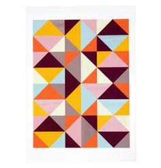 Geometric Abstract Pattern - Unframed Print A3 - Matt Blatt