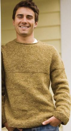 Knitting For Men: A Survey - Knitting Daily Oversized Sweater Outfit, Sweater Hoodie, Pullover Sweaters, Men Sweater, Striped Sweaters, Oversized Sweaters, Fair Isle Knitting Patterns, Sweater Knitting Patterns, Mens Knit Sweater Pattern