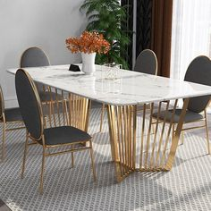 Search results for: 'contemporary 63 rectangular faux marble dining table gold base stainless steel', Faux Marble Dining Table, Stainless Steel Dining Table, Steel Table, Stainless Steel Furniture, Large Dining Tables, Marble Dinning Table, Marble Tables, Dining Sets, Round Dining