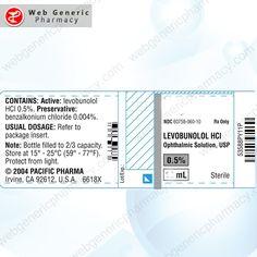 Levobunolol (Betagan) 5ml 1 Benzalkonium Chloride, Eyes Problems, Bright Future, Bright Eyes, Take Care Of Yourself, Pharmacy, Sparkling Eyes, Apothecary