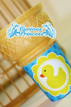 ICE CREAM cone wraps wrappers labels blue by curiousprincess, $4.99