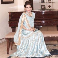 Fatima Kasuri wearing her mother's sharara - shaadi fashion