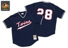Bert Blyleven 1985 Authentic Mesh BP Jersey Minnesota Twins - Mitchell & Ness