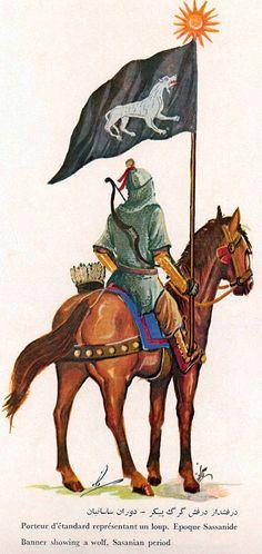 Sassanid Persian standard bearer