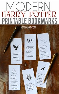 modern harry potter free printable bookmarks for the perfect gift for book lover friends. Harry Potter Display, Harry Potter Library, Harry Potter Knit, Harry Potter Book Covers, Harry Potter Cards, Harry Potter Free, Harry Potter Gifts, Harry Potter Birthday, Harry Potter Printable Bookmarks