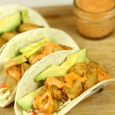 Shrimp Tacos with Boom Boom Sauce - If for nothing other than the BOOM BOOM sauce :)