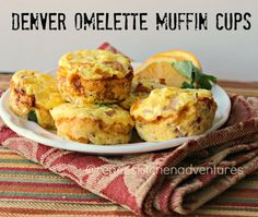 Renee's Kitchen Adventures: Denver Omelette Muffin Cups.  Perfect on-the-go meal or snack.  You can enjoy 3 muffins for 3 P+  #weightwachers #breakfast #eggs