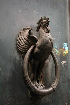 rooster door knocker by lillian