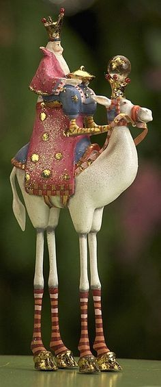 Riding high in the saddle, the Magi got the best view in the house! - Patience Brewster artist