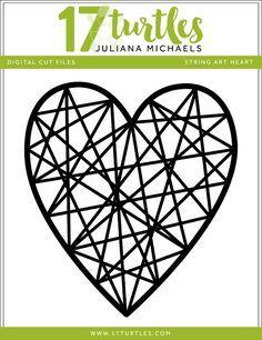 String Art Heart Free Valentine's Day Digital Cut File by Juliana Michaels 17turtles