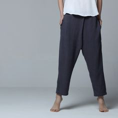 Nakali Women's Men's New Chinese Traditional Style Capris  Cross-Pants Trousers Cotton Linen 2014 Spring Summer