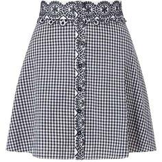 Miss Selfridge PETITE Gingham Skirt (45 BRL) ❤ liked on Polyvore featuring skirts, bottoms, saias, black, petite, miss selfridge, gingham skirt, miss selfridge skirts and petite skirts
