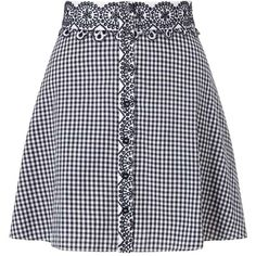 Miss Selfridge PETITE Gingham Skirt ($60) ❤ liked on Polyvore featuring skirts, black, petite, gingham skirt, miss selfridge, miss selfridge skirts and petite skirts