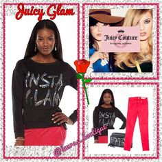 """HP5⭐️Juicy Sequin """"INSTA GLAM"""" Sweatshirt HP5⭐️NWT Juicy Couture black sequin embellished """"INSTA GLAM"""" sweatshirt features a silver """"juicy"""" charm at the back color, bold sequin embellished graphics, unique polyester/spandex scuba material, Vented drop-tail hem,  and handwash. (S 4-6) (M 8-10) (XL 16-18) ✅Bundle Discounts✅Reasonable Offers✅Offer Button✅❌Trades❌ Juicy Couture Tops Sweatshirts & Hoodies"""