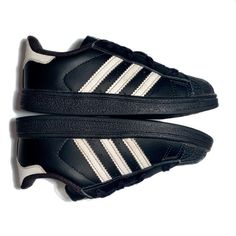 a6052fc8c4 adidas Shoes | Adidas Superstar Foundation Unisex Kids 3 Stripe | Color:  Black | Size