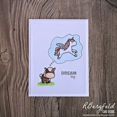 RBergfeld Card Designs: Dream Big - Mama Elephant, Lunar Animals, Unicorns and Rainbows