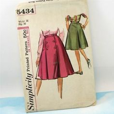 Vintage 1960s Sewing Pattern Simplicity 5434 by Old2NewMemories, $5.50