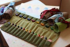 24 WALDORF Stockmar Block Beeswax Crayon Holder Roll