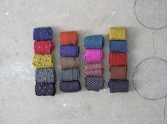 Leggings:  Gestreift, gezeckt, gepunktet – die Leggings aus der Herbstkollektion von Gudrun Sjödén gibt es in bunten Farben und verschiedenen Varianten.