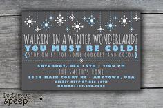 Walkin' In A Winter Wonderland - Christmas Party Invitation / Holiday Party Invitation. $12.00, via Etsy.
