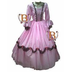 Disfraz Infantil Vestido Patrio Dama Antigua Colonial Premiu - $ 699,00