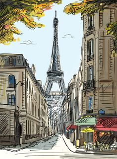 sketch of the eiffel tower personal sketches hand. Black Bedroom Furniture Sets. Home Design Ideas