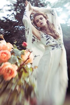 ❀ Flower Maiden Fantasy ❀ beautiful art fashion photography of women and flowers - Lara Jade tilt shift or free lensing