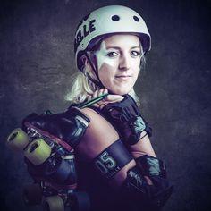 Roller Derby Portraits by Rod Clemen, via Behance