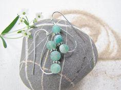 Roman Earrings Sea Glass Green Hoop Earrings by LupinePrairieGlass