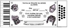"""MAIS MODELOS DE CONVITES PARA A FESTA JUNINA DA SUA ESCOLA ~ """" Cantinho do Educador Infantil """""""
