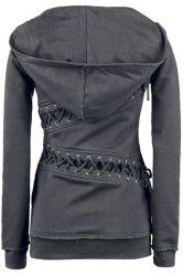 Trendy Hooded Long Sleeve Lace-Up Solid Color Hoodie For Women (GRAY,XL) | Sammydress.com Mobile