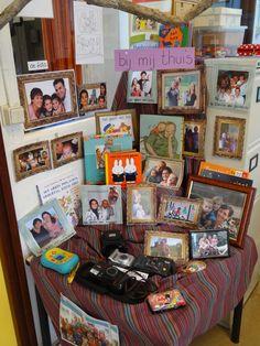 thematafel bij mij thuis - ik en ko - familieportretten van de leerlingen - juf ester klaver