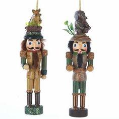 Kurt Adler Nutcracker Christmas Ornament With Elephant & Giraffe Hats