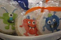 Monster party cookies