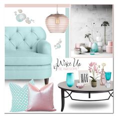 """""""Turquoise & Pink Interior"""" by brendariley-1 ❤ liked on Polyvore featuring interior, interiors, interior design, home, home decor, interior decorating, H&M, Kate Spade, Delfina and Cultural Intrigue"""