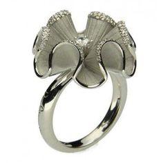 Anna Maria Cammilli 18ct White Gold Round Diamond Gea Ring