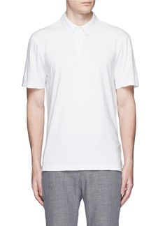 JAMES PERSE Sueded Supima® cotton jersey polo shirt. #jamesperse #cloth #shirt