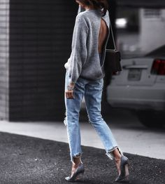 sweater + jeans style