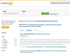 8000+ Online Marketing jobs are waiting for right candidates in careesma.in. Apply now! http://www.careesma.in/jobs?q=online+marketing+executive+jobs
