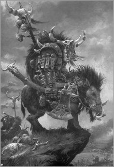 Adrian Smith Orc Boss on Boar