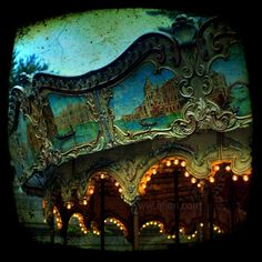 Carousel photo, Paris carousel photograph, carousel art, Fine art photography, Merry-go-round ttv, carnival, Paris, France, dark