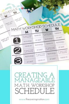 Learn how to use pre assessment data and student observations to create the most effective and efficient small group schedule for M.A.T.H. Workshop in your classroom. These strategies will help you make decisions on how many small groups you should have a