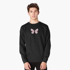Pink Butterfly, Butterflies, Graphic Tees, Graphic Sweatshirt, Pastel Pink, My Outfit, Chiffon Tops, Classic T Shirts, Sweatshirts
