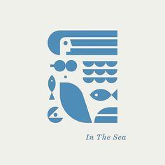 #graphic geometric shapes mermaid sea design logo icon