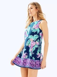 bd190a4a19656f Lilly Pulitzer Donna Romper Inky Navy Peanut Gallery Engineered Romper SZ  00 EUC