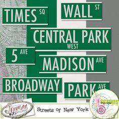 Streets of New York. Mini digital scrapbook kit $2.99