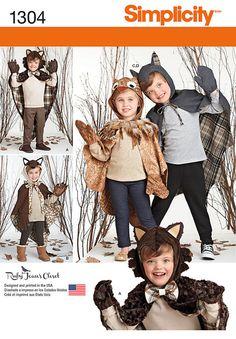 Simplicity Pattern 1304A 3-4-5-6-7--Child Costume
