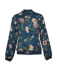 The Pearl Printed Bomber Jacket comes in our new print, antique bloom, in our classic bomber style. Max Clothing, Printed Bomber Jacket, Plain Tees, New Print, Suede Jacket, Jackets Online, Stay Warm, Double Breasted, Parka