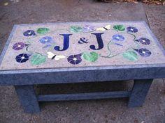 hypertufa bench