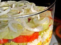 Многопластова салата с кус кус